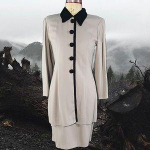 Vintage Taurus II warm gray toned dress.